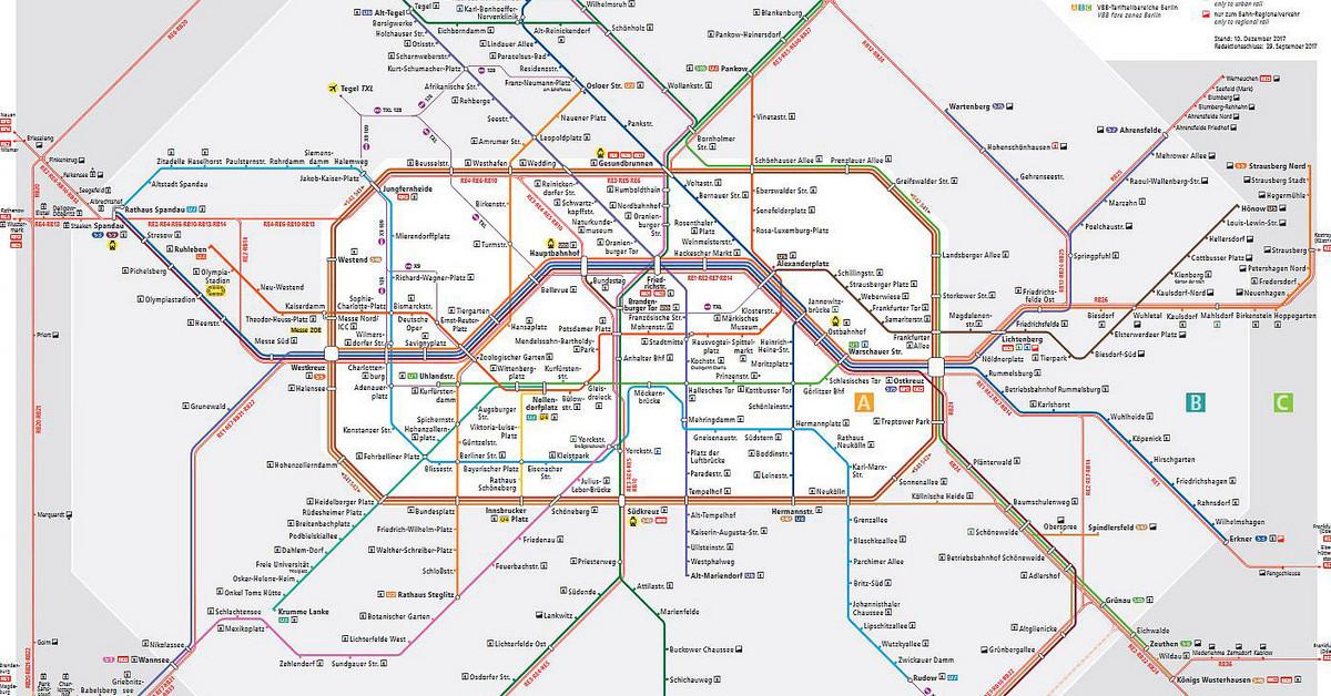 U-Bahn Karte Berlin